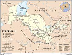 Route of Trans-Caspian railway in Uzbekistan