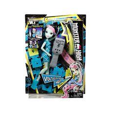"Monster High – Voltageous – Frankie Stein Varázsolj új hajat Frankie Stein,a ""Monster High"" -UV eszköz és a sablonok segítségéve! Frankenstein lányának speciális haja és a […] Monster High, Walmart, Doll Shop, Frankenstein, Baseball Cards, Dolls, Gender Female, Barbie, Houses"