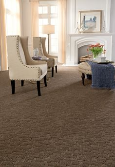 A random geometric cut and loop pattern from Tuftex Carpets of California. Shown in color 00758.