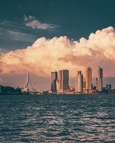 Rotterdam Skyline, New City, Vintage Posters, Pop Up, Netherlands, Holland, Dutch, New York Skyline, Architecture