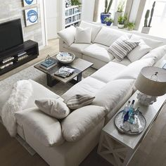 Marvelous Useful Tips: Living Room Remodel With Fireplace Stacked Stones livingroom remodel projects.Living Room Remodel Before And After Curtains small living room remodel tiny house.Small Living Room Remodel Tips. New Living Room, Small Living Rooms, Living Room Sofa, Apartment Living, Interior Design Living Room, U Shaped Couch Living Room, Small Living Room Sectional, L Shaped Couch, Cozy Apartment