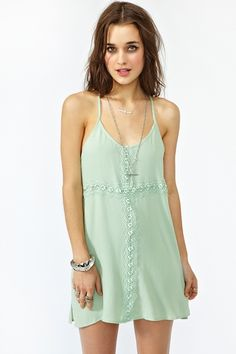 Crochet Cross Dress - Mint