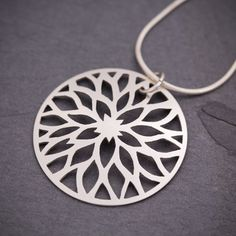 Silver Flame Pendant from Sarah McCulloch Designs