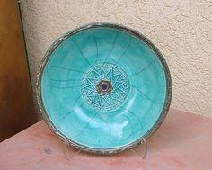 Raku SACRED GEOMETRY  Handmade Ceramic by DeBaunFineCeramics, $65.75