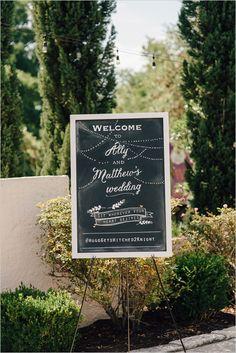 wedding chalkboard welcome sign @weddingchicks