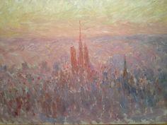 Vue générale de Rouen par Claude Monet (1892), présentée dans l'exposition « Cathédrales, 1789-1914 : un mythe moderne », musée des Beaux-Arts de Rouen, 2014 (©Guy Boyer).