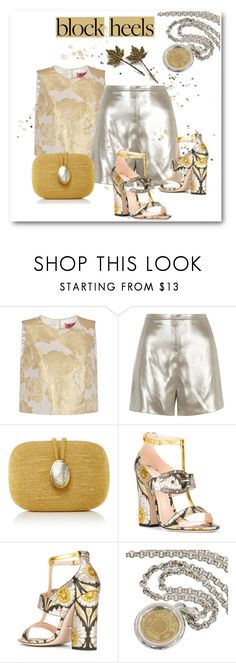 """""""Silver & Gold"""" by metter1 ❤ liked on Polyvore featuring Chi Chi, River Island, Kayu, Gucci, Hermès and blockheels"""