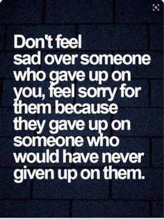 Don't feel sad