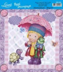 printable little girl w/frog & turtle
