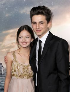 "Actors Mackenzie Foy (L) and Timothée Chalamet attend the premiere of Paramount Pictures' ""Interstellar"" at TCL Chinese Theatre IMAX on October 2014 in Hollywood, California. Mackenzie Foy, Beautiful Boys, Beautiful People, Timmy T, It Movie Cast, Interstellar, Teenage Mutant, Picture Photo, Actors & Actresses"