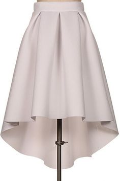 Pin by Girl Daily Fashion on Fashion Dresses in 2019 Box Pleat Skirt, Box Pleats, Pleated Skirt, Dress Skirt, Clothing Patterns, Dress Patterns, Hi Low Skirts, Scuba Fabric, Mode Inspiration