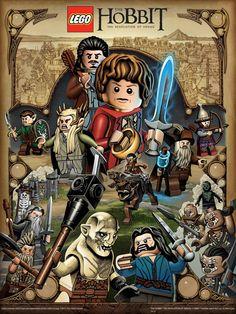 Desolation of Smaug Lego Poster - Mike Sutfin