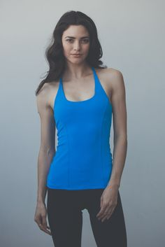 Tback Cami in Bright Blue by #montiel #fashion #fitness