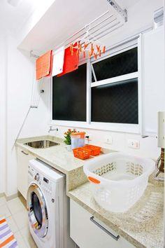 (imagem: travel.it) Tanto quanto a cozinha, a lavanderia  requer soluções diretamente ligadas às atividades aí desenvolvidas. Como em qualqu...