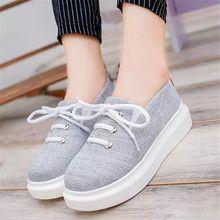 Giày vải nữ thời trang, màu sắc giản dị, kiểu thắt dây trang nhã