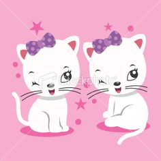 cartoon kitten Royalty Free Stock Vector Art Illustration
