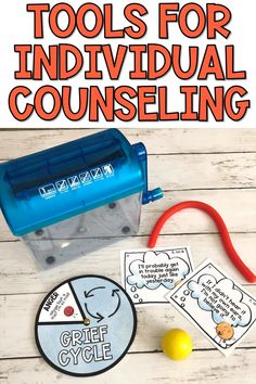 """No matter your counseling theory of choice, reality is that you need """"stuff"""" to counsel elementary students. I'm sharing what I use for my individual counseling tools. Get great ideas here! Cbt Worksheets, Counseling Worksheets, Counseling Activities, Career Counseling, Therapy Activities, Play Therapy, Therapy Ideas, Therapy Worksheets, Therapy Tools"""