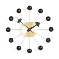 Vitra Mens George Nelson Ball Clock BlackBrass One Size *** See this great product. (This is an affiliate link and I receive a commission for the sales)