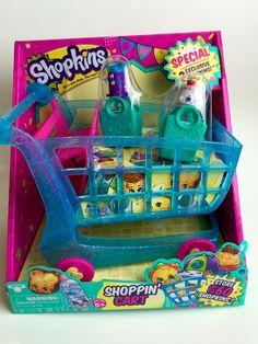 Shopkins Season 3 XL Shopping Cart Push N Play Shoppin W 2 Exclusive Shopkin Figures