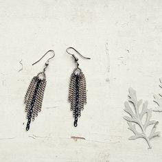 Silver Plated Boho Chandelier Earrings - bohemian, handmade, unique, elegant by Leloujewelry on Etsy