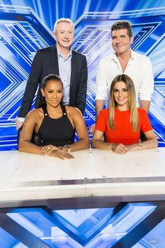 The X Factor judges 2014 - Simon Cowell, Cheryl Fernandez-Versini , Mel B and Louis Walsh. Cheryl Ann Tweedy, Louis Walsh, Cheryl Fernandez Versini, Girls Aloud, Cheryl Cole, Online Photo Gallery, Simon Cowell, Talent Show, Tv Presenters