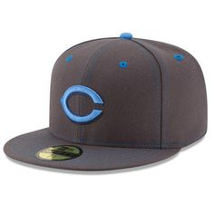 Cincinnati Reds New Era 2016 Father s Day 59FIFTY Fitted Hat - Graphite  Cincinnati Reds Hats af9c428ecfe3