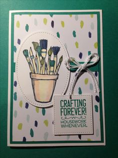 Stampin Up Crafting Forever card