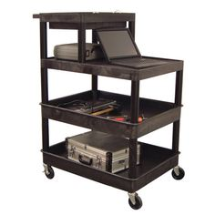 Luxor 4-shelf Utility Cart