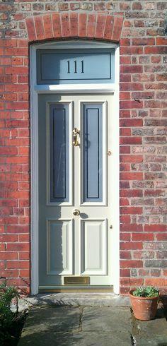 Our Grand Victorian Etched in Olive - Alderley Edge 2013 Victorian Front Doors, Wooden Front Doors, Victorian Homes, Victorian Era, Door Furniture, Home Renovation, Tall Cabinet Storage, Restoration, Cottage