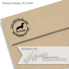 Personalized Dachshund Dog Self Inking Rubber Stamp Gift, Return Address, Etsy Shop Labels DESIGN SI0142...by Maxim Creative Invites by OhHappyDayStamps on Etsy https://www.etsy.com/listing/167074462/personalized-dachshund-dog-self-inking