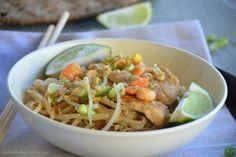 Pad thaï de poulet et crevettes