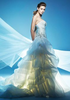 Ball Gown Strapless Organza Cathedral wedding Dress Style kalita008   ¥329 #Wholesale  #WholesaleWeddingDressesChina   #weddingdresschina  #wedding  #dresses