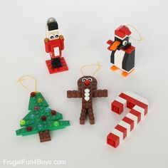 Five LEGO Christmas Ornaments to Make (With Building Instructions!) - Frugal Fun For Boys and Girls