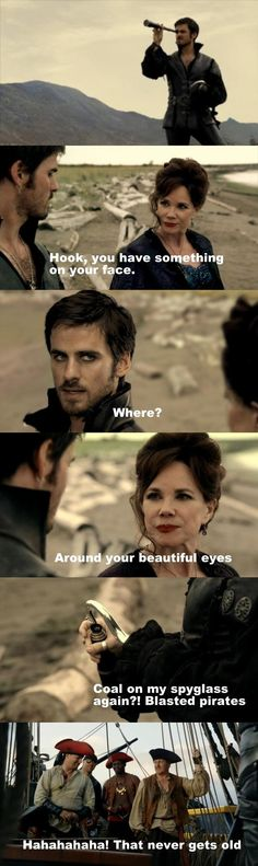 Captain hook is one sexy beast even with eyeliner.