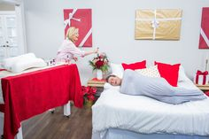 @kymdouglas will have you looking younger overnight with her #beautysleep must-haves! Cardboard Train, Home And Family Tv, Hallmark Homes, Hallmark Channel, Diy Beauty, Mists, Toddler Bed, Home And Garden, Sleep