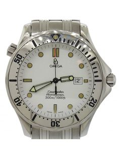 Omega Seamaster Pro Stainless Steel 2532.20 White Wave 41mm Quartz Watch