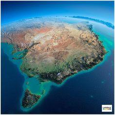 The continent of Australia