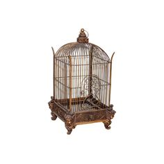 decorative birdcage ($395) ❤ liked on Polyvore featuring home, home decor, fillers, decor, furniture, cages, birds, bird home decor, bird cage home decor and outdoor home decor
