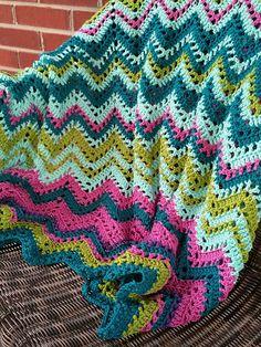 Kristi Simpson Designs: New Chevron Temperature Blanket Pattern Released! Chevron Crochet, Crochet Ripple, Knit Or Crochet, Learn To Crochet, Crochet Afghans, Crochet Blanket Patterns, Baby Blanket Crochet, Afghan Patterns, Crochet Baby