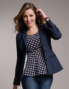 Pepperberry. I added this to my wardrobe as well. If you have a fuller chest, but standard size (who is?? ;-) everywhere else - this company is amazing. Jersey Blazer