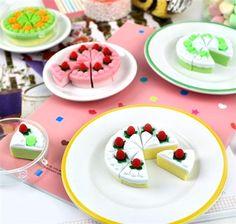 Sliced Cake Eraser Set