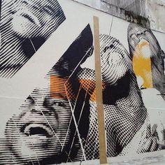 Work by @pinastencil in São Paulo, Brazil▪📸: @pinastencil #streetart #graffiti #stencil #art #brazil