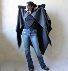 Medieval cape Wool cloak Wool cape Grey cloak Plus by LoreTree, €130.00