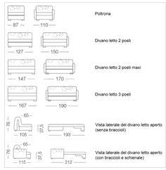 dimensioni larghezza base con braccioli bob cm 130 divano letto 2 ...