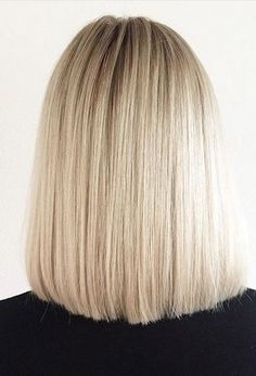 back view of straight long bob lob hairstyle blond 50 Amazing Blunt Bob Hairstyles 2020 - Hottest Mob & Lob Hair Ideas - Styles Weekly Blunt Bob Hairstyles, Long Bob Haircuts, Lob Hairstyle, Straight Hairstyles, Hairstyle Images, Hairstyle Ideas, Lob Haircut, Party Hairstyles, Hairstyles 2018