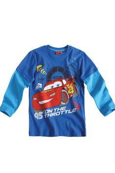 $11.50  BOY'S KIDS DISNEY CARS OFFICIAL LONGSLEEVE T-SHIRT Sz:Age 3-8 BLUE | eBay