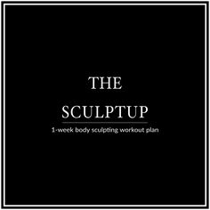 Work all muscle groups and sculpt a tight, toned body with the Bikini Body SculptUp Week. This 6 Day Workout Plan is designed to help you build calorie-torching lean muscle, boost your metabolism and improve your overall strength and body aesthetics!
