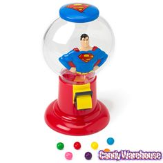 Choose a gumball machine for sale from Candy Warehouse to add a fun flair to your home or office. Shop online for great deals. Mickey Mouse And Friends, Disney Mickey Mouse, Online Candy Store, Gumball Machine, Man Of Steel, Smurfs, Something To Do, Packing, Shapes