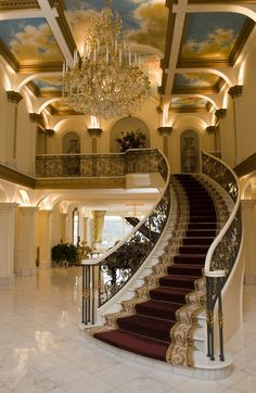 Below are the Grand Staircase Design Ideas For Amazing Home. This article about Grand Staircase Design Ideas For Amazing Home … Mansion Interior, Interior Exterior, Interior Design, Grand Staircase, Staircase Design, Foyer Design, Grande Cage D'escalier, Beautiful Interiors, Beautiful Homes