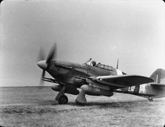 Rarely seen Hurricane wearing invasion stripes. Ww2 Aircraft, Fighter Aircraft, Military Aircraft, Fighter Jets, Grumman F6f Hellcat, Hawker Tempest, Hawker Typhoon, Hawker Hurricane, The Spitfires